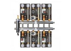 Распределительный коллектор с гидрострелкой 85 кВт, 7 контуров