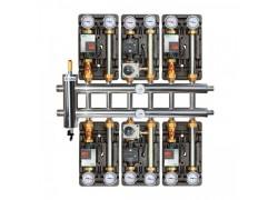 Распределительный коллектор с гидрострелкой 120 кВт, 7 контуров