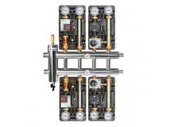 Распределительный коллектор с гидрострелкой 85 кВт, 5 контуров