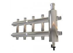 Распределительный коллектор с гидрострелкой 120 кВт, 5 контуров