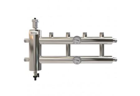 Распределительный коллектор с гидрострелкой 60 кВт, 2+1 контур