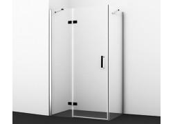 Aller 10H06LBLACK Душевой уголок, прямоугольник, с левой распашной дверью